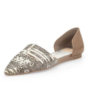 Dolce Vita - Snake Two-Tone Pointed d'Orsay Flats